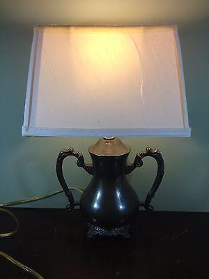 Sarreid Ltd. Solid Pewter Lamp Ref. 9197--Vintage--Rare