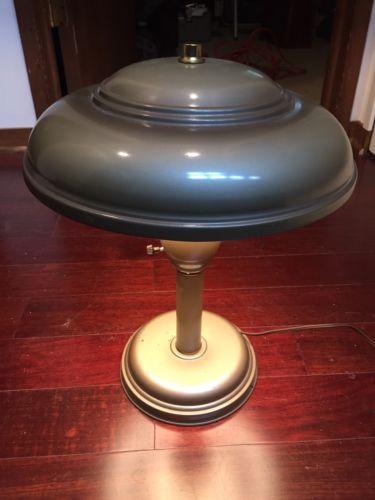 Vintage Modern Space Age Ship UFO Light Spaceship Desk Lamp Working