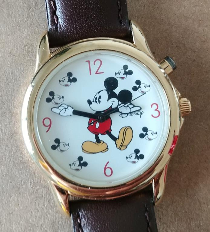 Disney MU-2550 Musical Mickey Mouse Character Watch Lot MINT