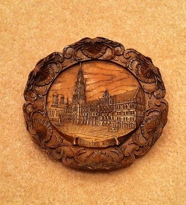Vintage Wooden Resin Carved  9
