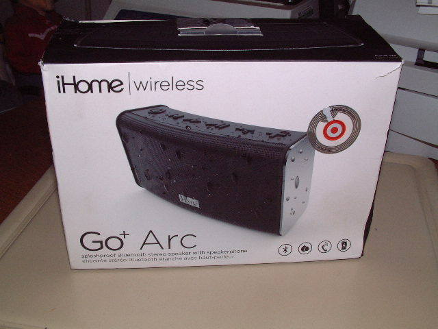 iHome Go+ Arc Wireless Bluetooth Splashproof Speaker New Open Box Very Nice!