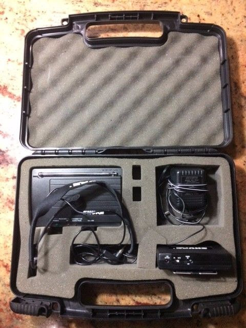 Shure T1G Guitarist Transmitter and Receiver Microphone Case