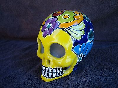 Day Of The Dead Sugar Skull talavera Mexican wall Art Mask catrina hand painted