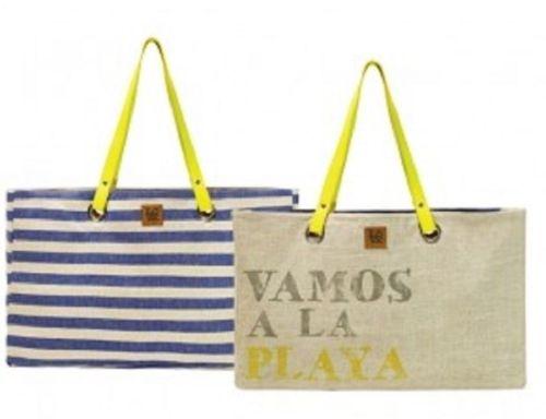 Reversible Big Tote Bag - Boardwalk Pattern, by Love Bags