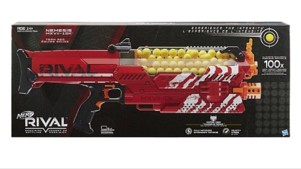 New NIB Nerf Rival Nemesis MXVII-10K Team Red