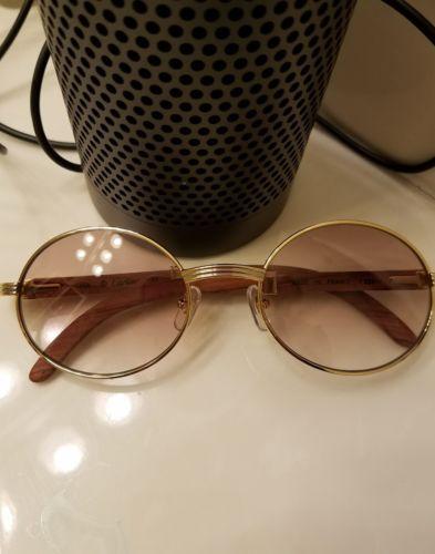 Cartier wood sunglasses