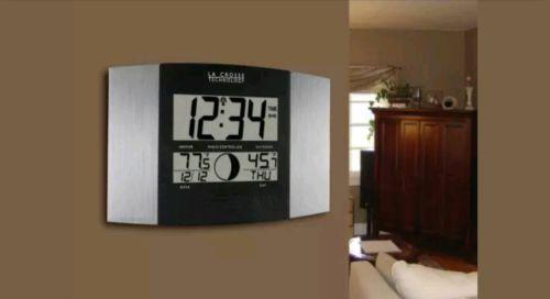 La Crosse Technology WS-8117U-IT-AL Atomic Wall Clock with Indoor/Outdoor.