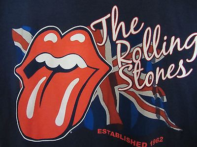 Unisex The Rolling Stones Navy T Shirt size S