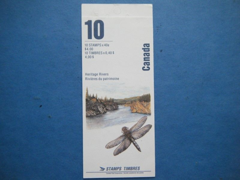 Canada MNH 'Heritage Rivers' Booklet Lot#W27