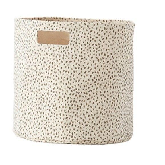 Pehr Designs Pebble Speck Canvas Storage Bin NEW Organization Home Basket Cute