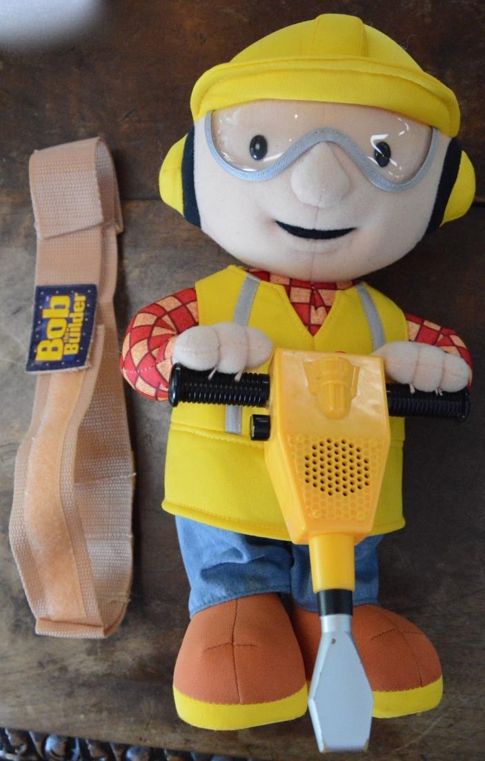 Bob the Builder Jackhammering Plush Works Kids Belt Included