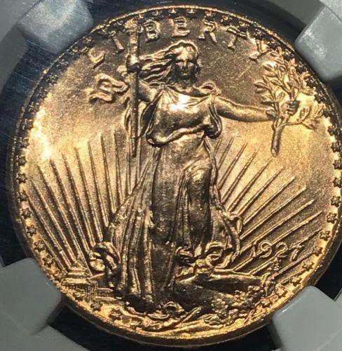1927 St Gaudens Saint MS67 NGC High Grade Low Pop Gold Liberty Eagle