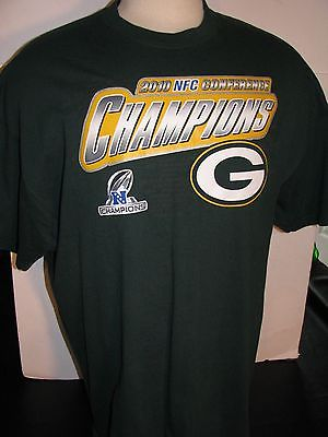 Collectors GREEN BAY PACKERS Football NFC Conference Campions TEE SHIRT Sz 2XL