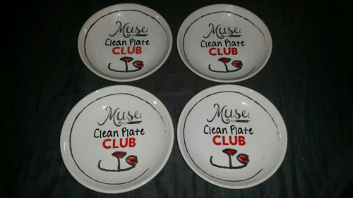 Muse by Purina ~ Clean Plate Club ~ Set of 4 Plates