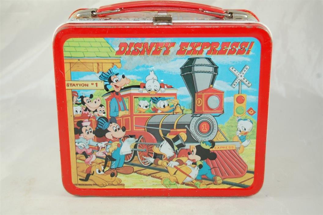 1979 Aladdin Disney Express! Lunch box Metal