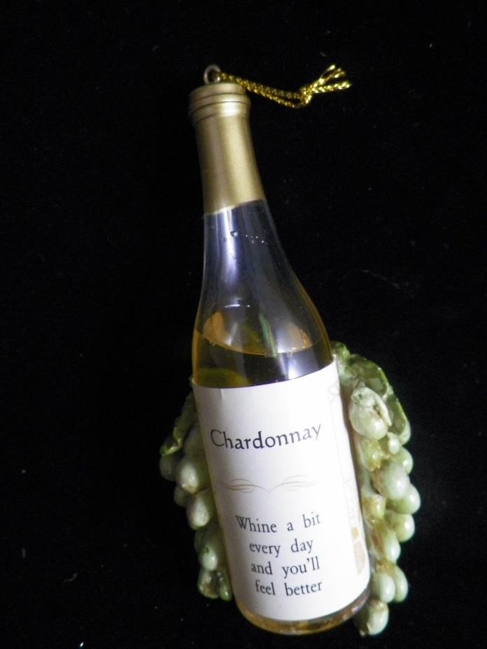 Chardonnay Whine a Bit Everyday and You'll Feel Better Christmas Tree Ornament