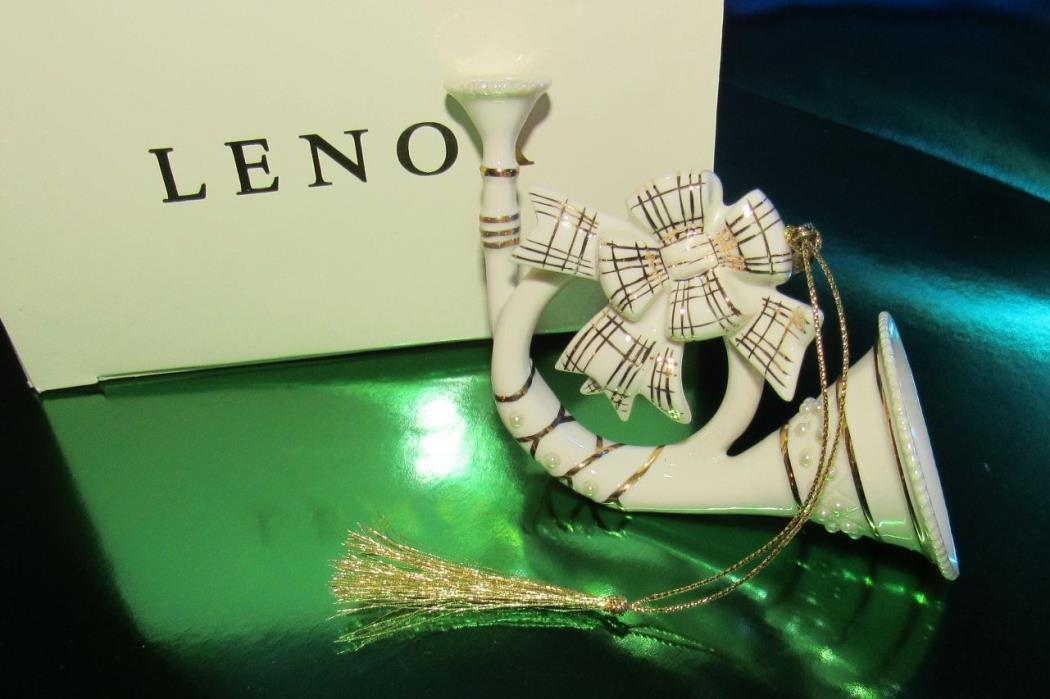 LENOX 2003 FRENCH HORN ORNAMENT An Exclusive for LENOX ORNAMENT CLUB (1ZBM-1)