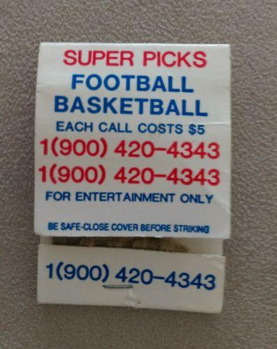 Vintage Matchbook Super Sports Picks Football Basketball Horoscope Tarot Reading
