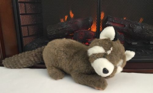 Vintage Plush Large Raccoon Stuffed Animal 100% Polyester Soft 20