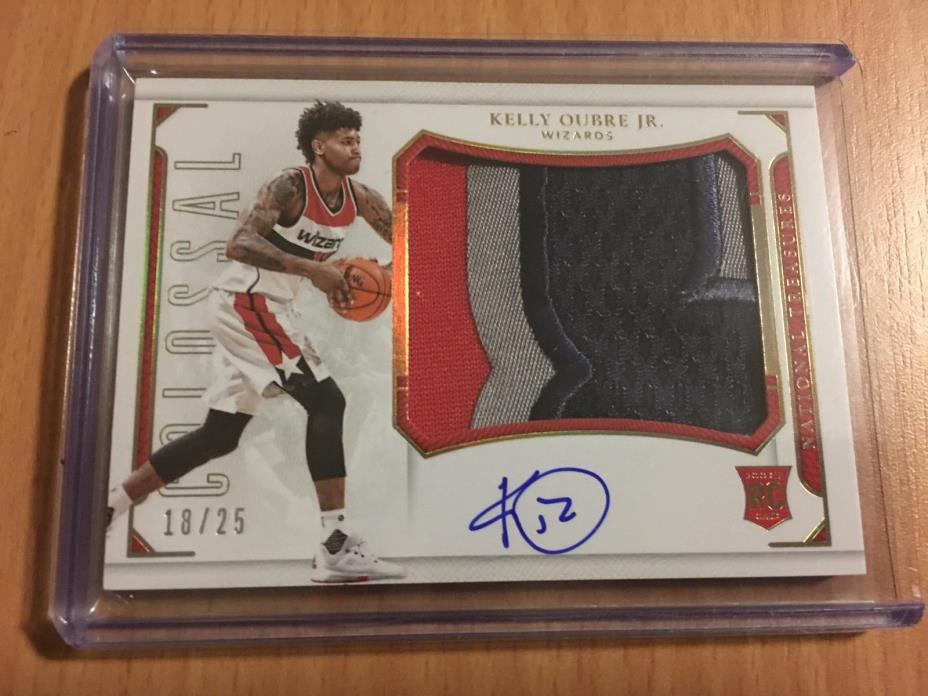 2015-16 National Treasures WIZARDS Kelly Oubre RC Colossal Patch AUTOGRAPH /25
