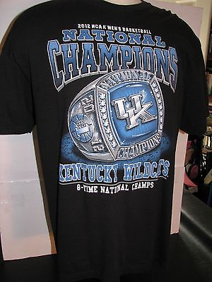 UK KENTUCKY WILDCATS Basketball National Champions Collectors TEE SHIRT XL Ring