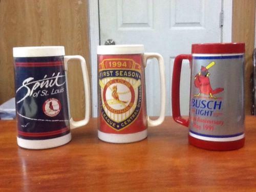 3 Vintage St.Louis Cardinal Mugs