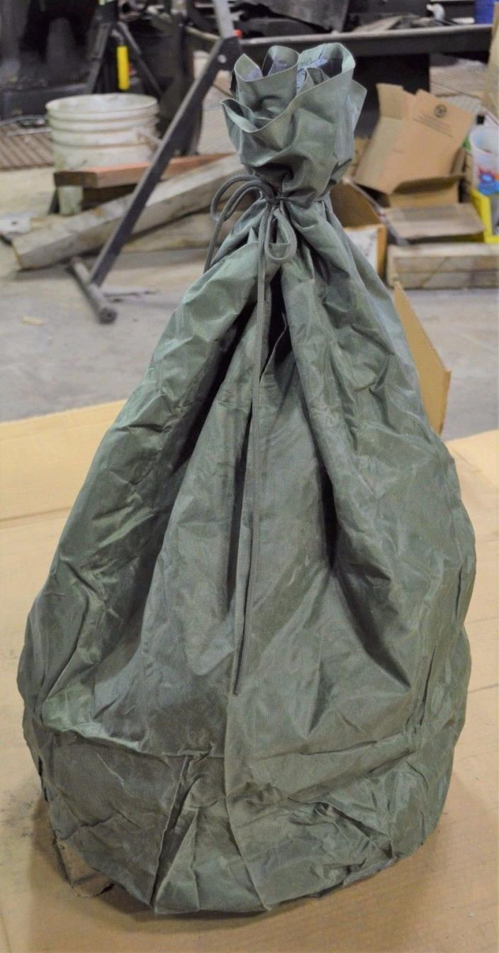 Military Surplus Nylon Waterproof Clothing Bag, with Strings, green, Qty. 1