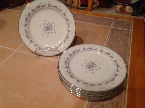 6- Noritake Fine China Camille Salad Plates
