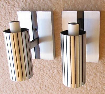 Pair 1967 MCM Lightcraft Of California Wall Sconces Mid Century Modern Up Down