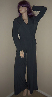 SPIEGEL 6 NWT Gray Wide Leg Jumpsuit Jumper Pantsuit Suit Coveralls Catsuit M 6