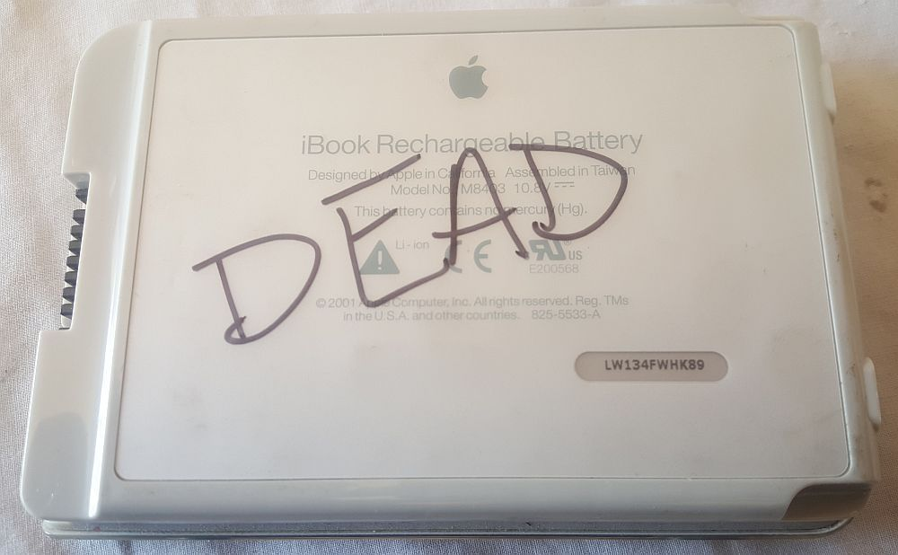 APPLE iBOOK G3 G4 BATTERY M8403 AS IS NON WORKING