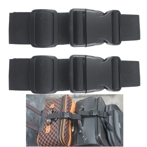 Two Add a Bag Luggage Strap Travel Luggage Suitcase Adjustable belt Travel Acces