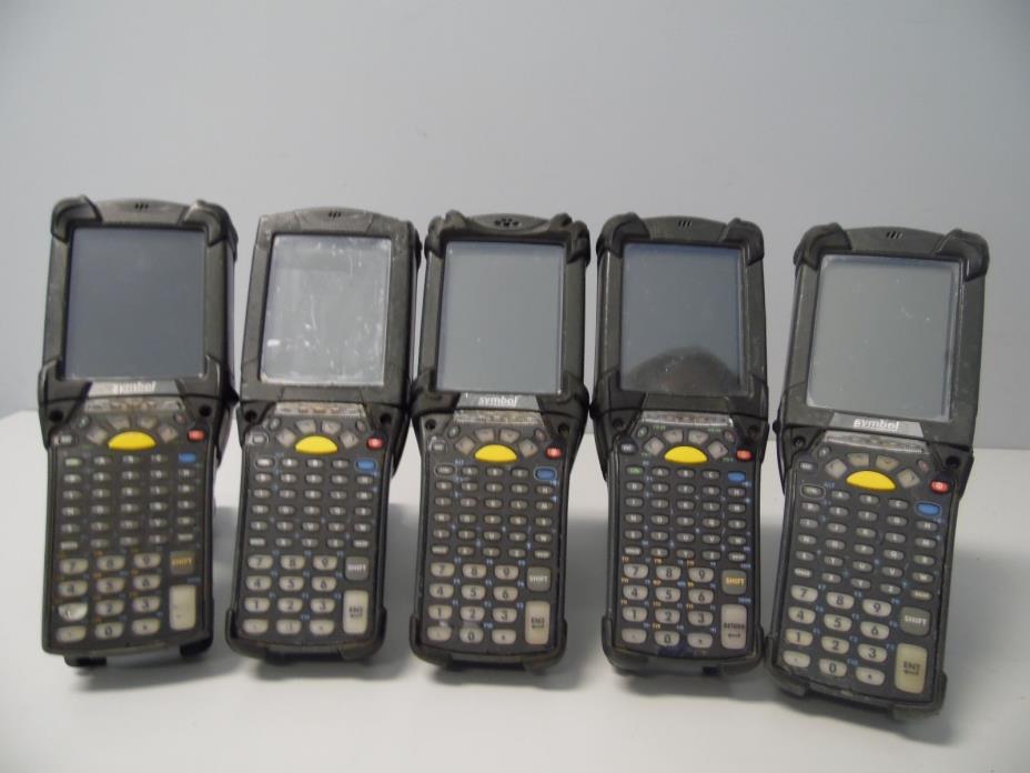 Lot of 5 x Motorola Symbol MC9090-GFOHJEFA6WR Laser Barcode Scanners AS IS