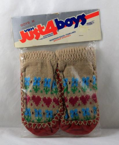 Sock Slippers Boys Non Skid Just 4 Boys Size 8 Boys Youth Vintage