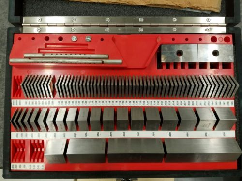 Starrett Webber Gage Block Set