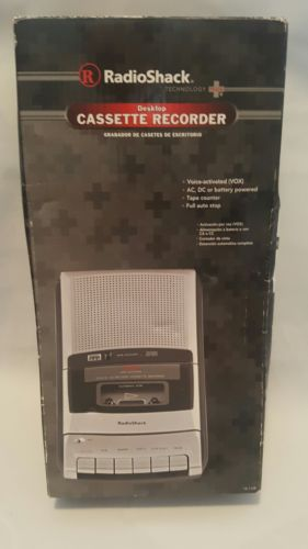 Cassette Recorder Radio Shack  Vox  desktop in box
