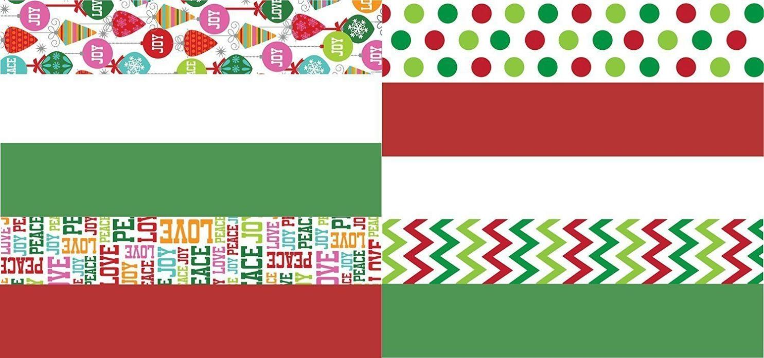 NEW Christmas Art Craft Tissue Paper Printed and Solid- 120 Sheets