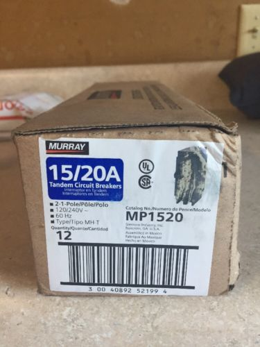 MURRAY 15 & 20 AMP TWIN BREAKER BRAND NEW MP1520 BOX OF 12