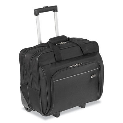 Rolling Laptop Case, 1200d Polyester, 16-1/2 X 7-1/2 X 14, Black