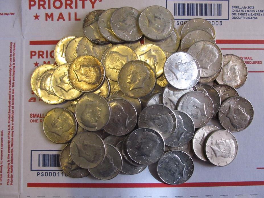 1964 Kennedy half dollar Rolls- 90% silver Three Rolls (60 coins)
