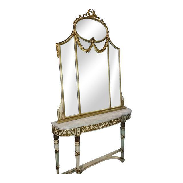 LABARGE French Console Table with Mirror