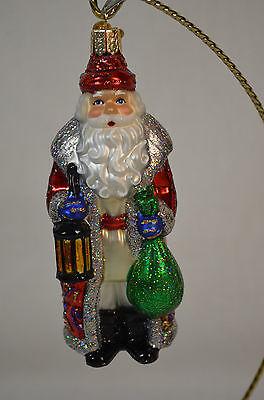 Serbian Santa Claus Old World Christmas Ornament NWT mouth blown glass