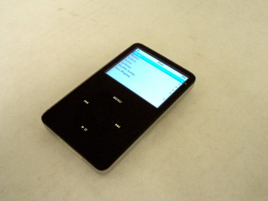 Apple iPod Classic 5th Gen, 60GB Black, A1136, MP3 Player, Good Working