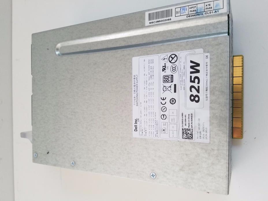 Dell Precision T5600 T5610 825W Power Supply  H825EF-00 PSU DR5JD