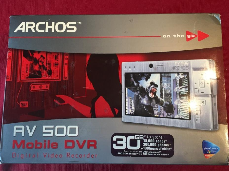 Archos AV 500 Gray ( 30 GB ) Digital Media Player - FREE SAME DAY SHIPPING
