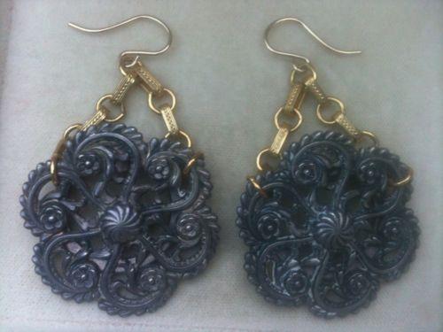 BLOWOUT SALE! Designer Vintage Silver Clips GF Chain GF Earring Wire 2.25