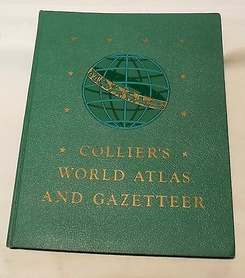 Collier's World Atlas and Gazetteer, Copyright 1946. Great Condition
