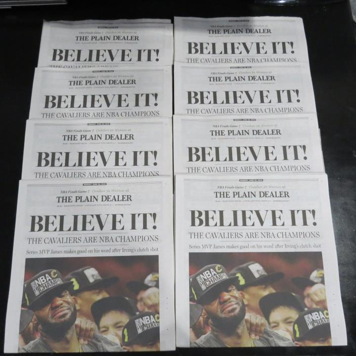 Cleveland Cavs NBA CHAMPIONSHIP 6/20/16 Plain Dealer Newspaper LEBRON Believe IT