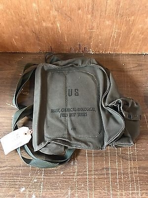 US VIETNAM MILITARY surplus M17 FIELD PROTECTIVE GAS MASK CANVAS CARRY BAG NOS