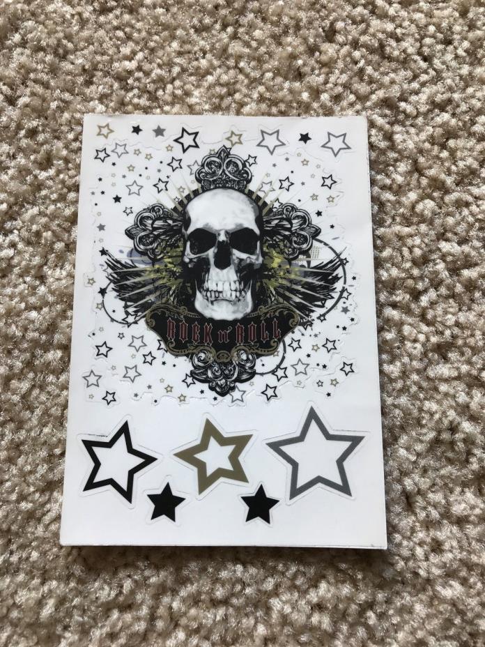 Rock n' Roll Skull Sticker